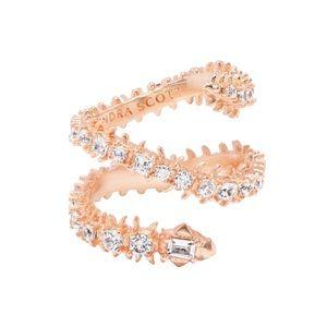 Kendra Scott Rose Gold Crystal Beck Wrap Ring